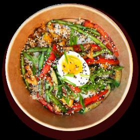 Поке-боул овощи унаги