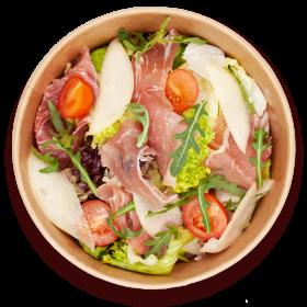 Салат з прошуто пiд соусом Дор блю